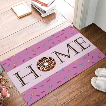 Autumn Fall welcome door mat doormat Pink Donuts Home s Kitchen Floor Bath Entrance Rug Mat Absorbent Indoor Bathroom Decor s AT_76_7