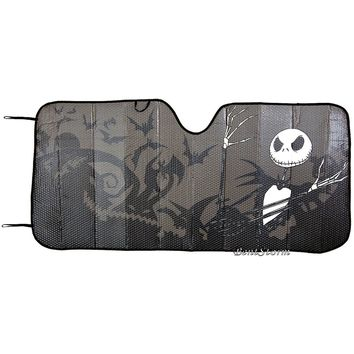 "Licensed cool Nightmare Before Christmas ACCORDION SUNSHADE Auto Car Truck Van 58""x 27 1/2"""