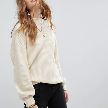 Moon River Cocoon Sleeves Sweater at asos.com