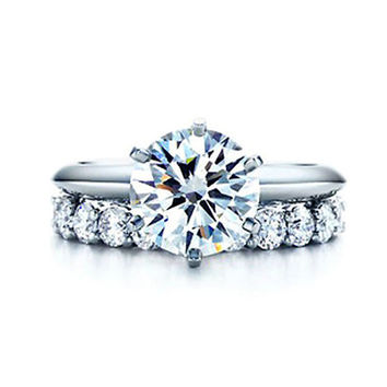 1CT Wedding Set SONA Synthetic Diamond Ring Bridal Sets