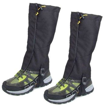 LONMF Pair Waterproof Outdoor Walking Hiking Gaiters Leg Cover Legging Wrap