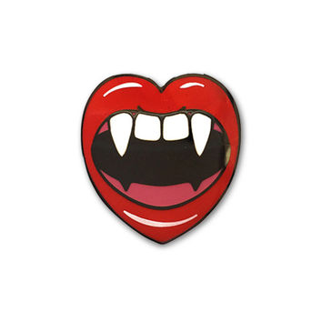 Love At First Bite Lapel Pin