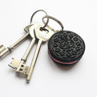 Oreo Keyring with Strawberry Filling