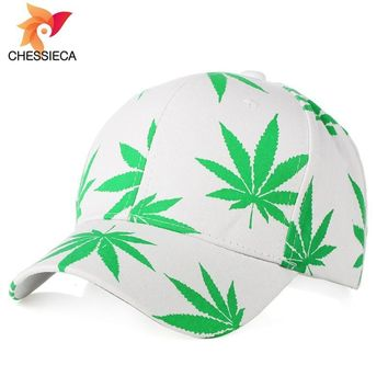 Trendy Winter Jacket CHESSIECA 2018 Luxury Brand Hemp Leaf Color Printing Fashion Snapback Hip-Hop Hat Men Women Baseball Cap Casquette Female Caps AT_92_12