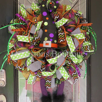 Last One! Halloween Wreath, Wicked Witch Wreath, Halloween Decoration, Halloween Party Decoration, Fall Wreaths, Front door wreath