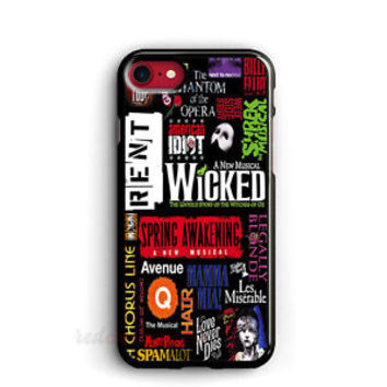 Musical iPhone cases Broadway Musical Collage cases Wicked Samsung Galaxy Cases