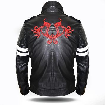 Alex Mercer Jacket Cool Men Black Faux Leather Jacket Hoodie Superhero Costumes Video Game Character Cosplay Costume Plus Size