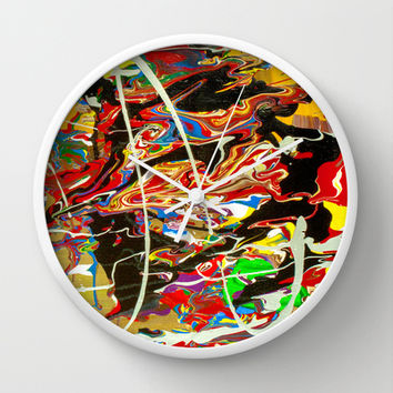 Madness Wall Clock by Bruce Stanfield
