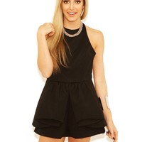 West Coast Wardrobe Cocktail Hour Mini Romper in Black