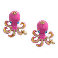 OCTOPUS STUD EARRINGS - Betsey Johnson