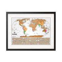 Scratch Off World Map with Flags - World Travel Tracker Map ®