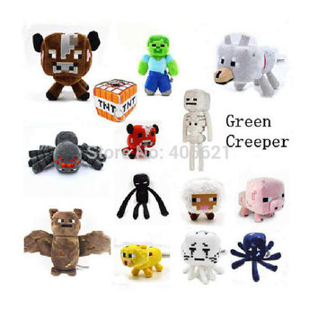 16-26cm My World Minecraft Zombie Ghost Doll Wolf Ocelot Stuffed Animals JJ Strange Sheep 15 style Plush Toys