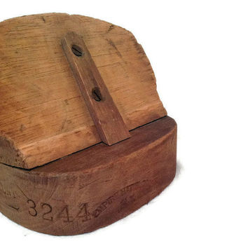 Industrial Home Decor Vintage Millinery Hat Block by RestorationHarbor