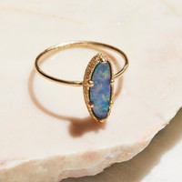 Free People 9k Blue Ocean Opal Ring