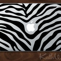 zebra Vinyl Laptop Decal by kathwren on Etsy