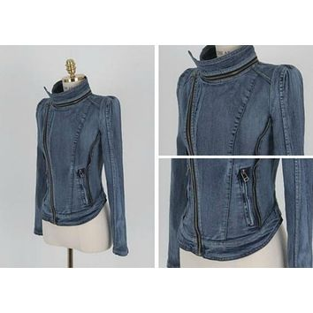 new women s denim coat vintage clothes fashion jacket