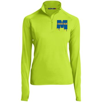 Michigan Wolverines I Bleed Blue Womens Half Zip Performance Pullover