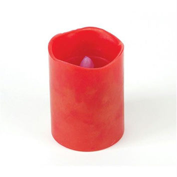 Flameless Candle - Red Pillar Candle