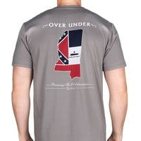 Come And Take It Mississippi Tee in Grey by Over Under Clothing