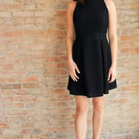 Andra Fit and Flare Dress - black