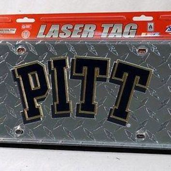 Pittsburgh PITT Panthers NCAA Laser Cut Diamond Plate License