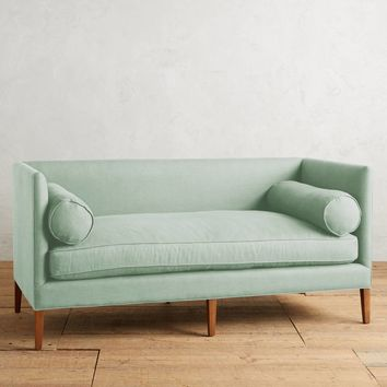 Pleasant Linen Harper Settee Ibusinesslaw Wood Chair Design Ideas Ibusinesslaworg