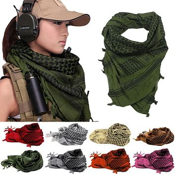 Hot New Winter Women Men Windproof Warmer Military Scarf muslim hijab shemagh Scarves Tactical Desert Arab KeffIyeh Shawl Z1
