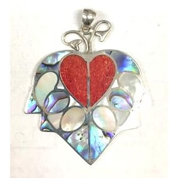 AP-1111-SH Sterling Silver Pendant With Shell
