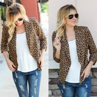 Setting The Bar Blazer - Leopard