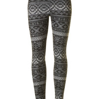 White Winter Leggings