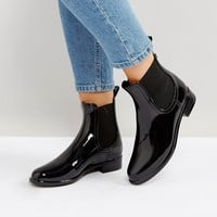ALDO Brilasen Smooth Black Chelsea Wellie Boot at asos.com