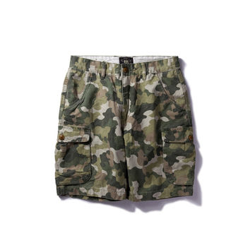 Camouflage Summer With Pocket Training Vintage Shorts [9790793475]