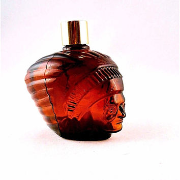 Avon Collectible Bottle: Chieftain Head 4 Fl Oz Spicy After Shave