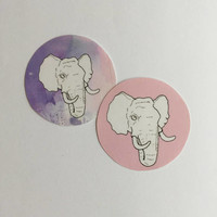 Pastel Elephant Stickers