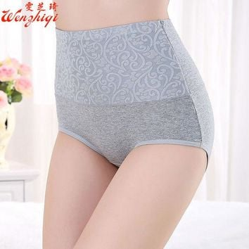 VONEGQ 2017Sexy Women flower  Panties Fashion Designer Body Shaper Hip Abdomen Tummy Control Briefs High Waist Underwear Women's Panty