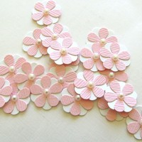 Teeny Tiny Baby Pink And White Flowers - Set Of 20 | Luulla