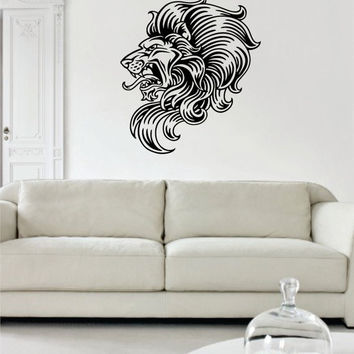 Lion Version 10 Design Animal Decal Sticker Wall Vinyl Decor Art