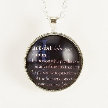 Personalized Necklace Custom Dictionary Word by cellsdividing