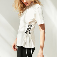 Silence + Noise Lace-Up Side Corset Tee | Urban Outfitters