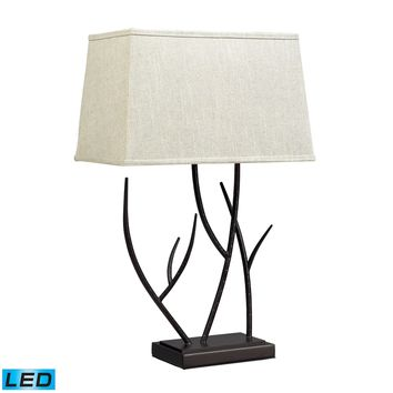 D2209-LED Winter Harbour Hammered Iron LED Table Lamp In Bronze - Free Shipping!
