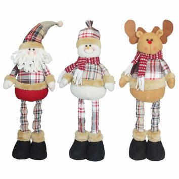 2017 New Special Christmas Ornament Cute Stretchable Telescopic Doll Decoration Christmas Dolls Gift Tree Hanging Decorations