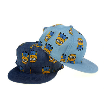 Korean Lovely Cartoons Hip-hop Denim Baseball Cap Hats [4917717124]