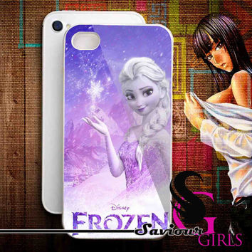 Disney Frozen, Elsa for iPhone 4/4S, 5/5S, 5C and Samsung Galaxy S3, S4 - Rubber and Plastic Case