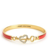 Enamel Heart & Key Bangle by Juicy Couture, O/S