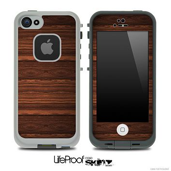 Dark Heavy WoodGrain Skin for the iPhone 5 or 4/4s LifeProof Case