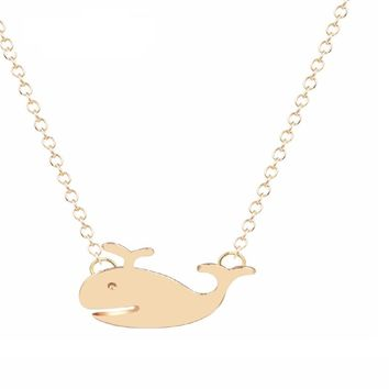 Chokers Dolphin Animals Gold Silver Chain Necklace for Women