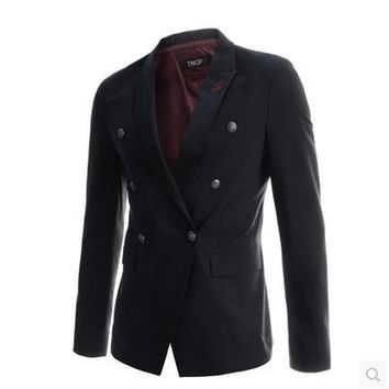 Casual Blazer Classics Double Breasted Suits Hot Sale Jacket [6544718659]