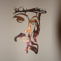 Jesus Crown of Thorns Patina 16 Gauge Metal Wall Sculpture