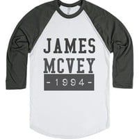 James Mcvey 1994-Unisex White/Asphalt T-Shirt