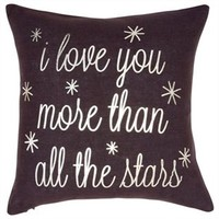 Expression Pillow – Love You More Than Stars